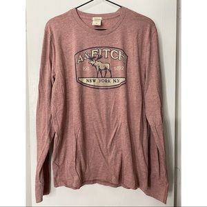 ABERCROMBIE & FITCH Long Sleeve Graphic T-shirt